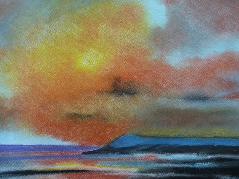 orange sunset (original painting for sale)